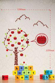 Samolepka na zeď APPLE TREE 120x125 CM