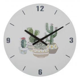 Nástěnné hodiny KAKTUS 38 CM
