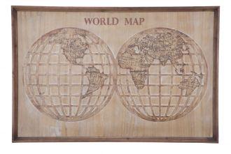 Nástěnná dekorace WORLD MAP 80 CM