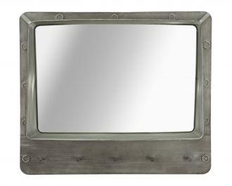 Zrcadlo s háčky BOLT 70 CM