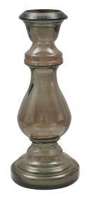Svícen VASO BROWN 40 CM recyklované sklo
