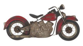 Nástěnná dekorace MOTO RED 48 CM