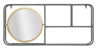 Kulaté zrcadlo s poličkou INDUSTRY 74 CM