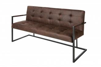 Stolová lavice RODEN 160 CM vintage hnědá