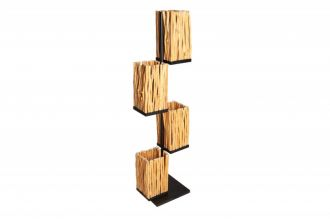 Stojací lampa EUPHORIA 149 CM masiv longanské dřevo