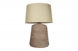 Stolní lampa CORINN GREY 96 CM béžová ratan