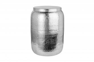Odkládací stolek ORIENT STORAGE 35 CM stříbrný s úložným prostorem