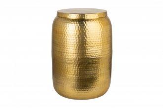 Odkládací stolek ORIENT STORAGE 35 CM zlatý s úložným prostorem