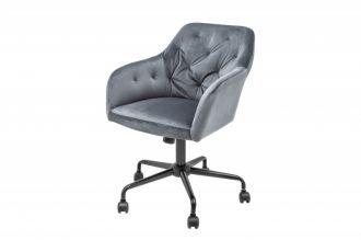 Pracovní židle DUTCH COMFORT šedá samet