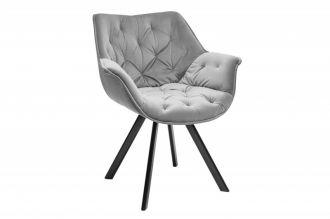 Židlo-křeslo DUTCH COMFORT šedé samet