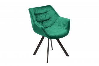 Židlo-křeslo DUTCH COMFORT smaragdově zelené samet