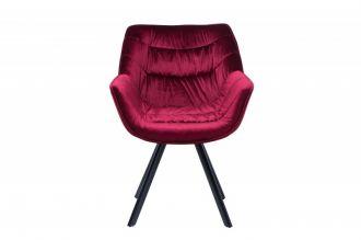 Židlo-křeslo DUTCH COMFORT červené samet
