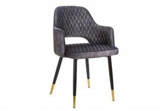 Jídelní židle PARIS šedá samet