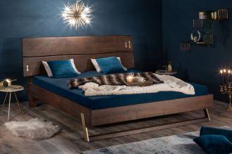 Luxusní postel MAMMUT BROWN 180x200 CM masiv akácie