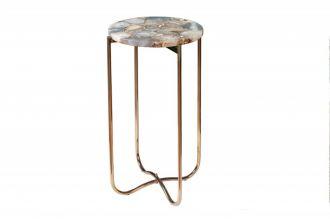 Odkládací stolek NOBLES 35 CM modrý achát