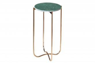 Odkládací stolek NOBLES 35 CM zelený mramor