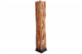 Stojací lampa NATURE ART 175 CM masiv longanské dřevo