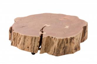 Konferenční stolek GOA ROLLEN NATUR 80 CM masiv akácie