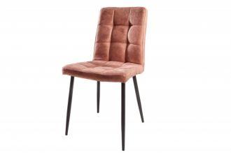 Židle MODENA vintage hnědá mikrovlákno