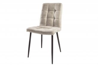 Židle MODENA světle šedá mikrovlákno