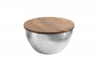 Konferenční stolek ORIENT STORAGE 60 stříbrný masiv mango