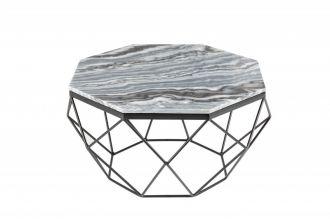 Konferenční stolek DIAMOND NOBLES 69 CM šedý mramor
