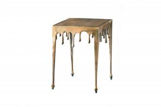 Designový odkládací stolek LIQUID LINE S 44 CM zlatý