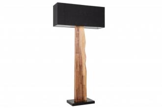 Stojací lampa ORGANIC 160 CM černá masiv gumovník