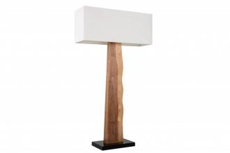 Stojací lampa ORGANIC 147 CM bílá masiv gumovník