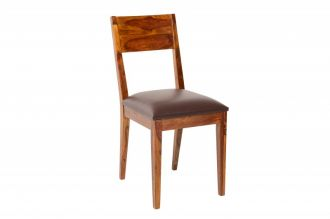 Židle PURE hnědá masiv sheesham