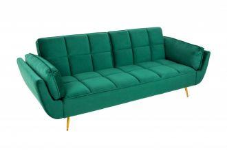 Pohovka BOUTIQUE 215 CM smaragdově zelená rozkládací