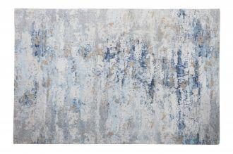 Koberec ABSTRAKT 350x240 CM šedo-modrý