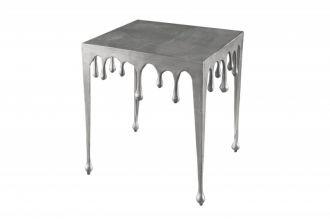 Designový odkládací stolek LIQUID LINE L 50 CM stříbrný