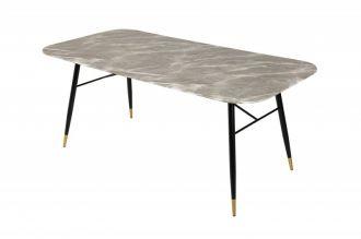 Skleněný jídelní stůl PARIS 180 CM šedý mramorový vzhled