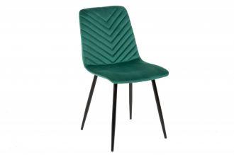 Jídelní židle AMAZONAS zelená samet