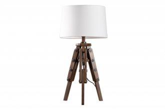 Stolní lampa TRIPOD 59 CM bílá masiv borovice