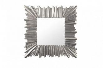 Nástěnné zrcadlo VENICE 95 CM stříbrné masiv pavlovnie