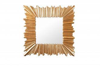 Nástěnné zrcadlo VENICE 95 CM zlaté masiv pavlovnie
