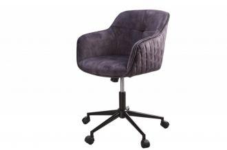 Pracovní židle EUPHORIA tmavě šedá samet