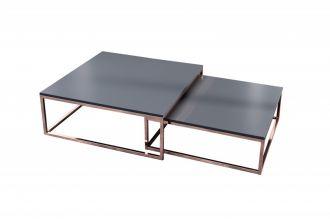 2SET konferenční stolek NEW ELEMENTS měděný