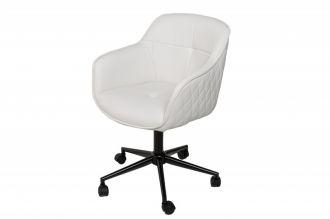Pracovní židle EUPHORIA bílá umělá kůže