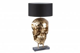 Stolní lampa SKULL 75 CM černo-zlatá