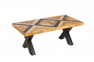 Konferenční stolek LONG ISLAND 110 CM mangová dýha