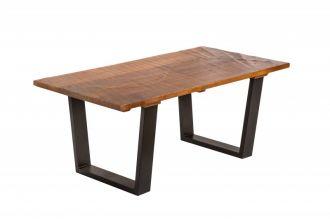 Konferenční stolek SCORPION 110 CM hnědý masiv mango