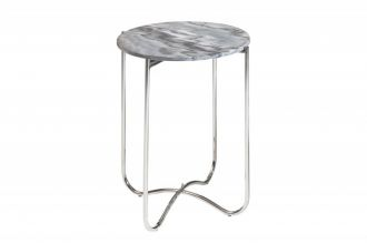Odkládací stolek NOBLES 43 CM šedý mramor