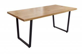Jídelní stůl LOFT 180 CM dubový vzhled U rám