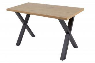 Pracovní stůl LOFT 140 CM dubový vzhled X rám