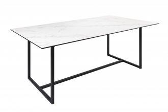 Jídelní stůl SYMBIOSE WHITE MRAMOR 200 CM keramika