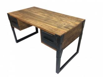 Pracovní stůl FACTORY II 135 CM masiv mango