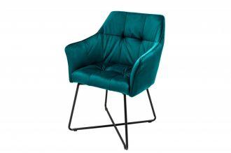 Jídelní židle LOFT tyrkysová samet